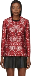 Mother Of Pearl Red Cotton Silk Floral Nadia Blazer