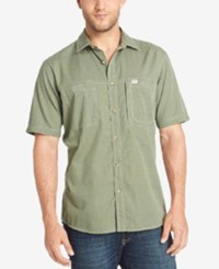 G.H. Bass And Co. Men's Vented Short Sleeve Performance Shirt Captains Blue Heather