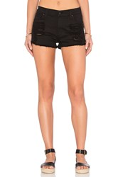 James Jeans Sugar Short Flat Black Distressed