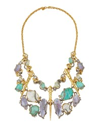 Alexis Bittar Multicolor Crystal Encrusted Statement Bib Necklace Women's