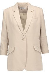 Elizabeth And James Heritage Crepe Blazer Beige