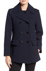 Kate Spade Women's New York Wool Blend Peacoat Deep Navy