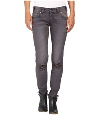 Rock And Roll Cowgirl Low Rise Skinny In Grey Wash W0s8492 Grey Wash Women's Jeans Navy