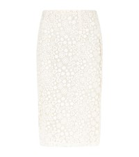 Red Valentino Lace Pencil Skirt Female Ivory