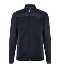 Armani Ea7 Quilted Panel Jersey Jacket Male Navy