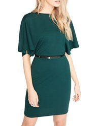Miss Selfridge Angel Sleeve Sheath Dress Green