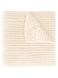 J.W.Anderson Chunky Laddered Scarf Nude And Neutrals