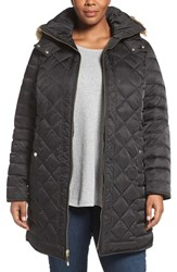 Kenneth Cole Plus Size Women's New York Faux Fur Trim Hooded Down And Feather Fill Coat