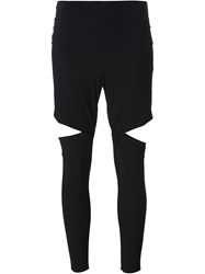 Lost And Found Cut Out Detail Leggings Black