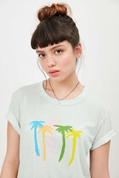 Truly Madly Deeply Palm Tree Tee Green