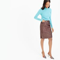 J.Crew Collection Rose Gold Tweed Mini Skirt