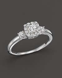 Bloomingdale's Princess Cut Diamond Engagement Ring In 14K White Gold .35 Ct. T.W.