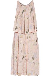 Jill Stuart Dasha Printed Chiffon Dress Pastel Pink