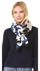Marc Jacobs Stars Stole Scarf Ivory Multi