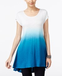 Joseph A Ombre Swing High Low Tunic Blue Sapphire