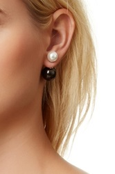 Two Tone 10 14Mm Cultured Freshwater Pearl Double Sided Earrings Multi
