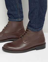 Kg By Kurt Geiger Lace Up Boots In Burgundy Leather Red