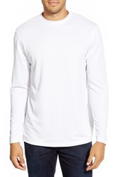 Men's Bugatchi Long Sleeve Knit T Shirt White