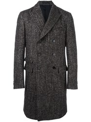 Z Zegna Double Breasted Coat Brown