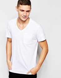 G Star G Star T Shirt Mazuren V Neck One Pocket In White White