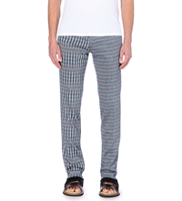 Missoni Slim Fit Knitted Trousers Navy