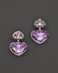 Vianna Brasil 18K Yellow Gold Earrings With Pink Amethyst Amethyst And Diamond Accents Purple Gold
