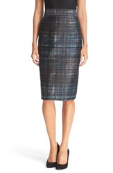 Milly Women's Confetti Check Pencil Skirt