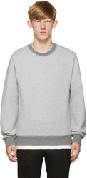 Wooyoungmi Grey Blanket Stitch Pullover