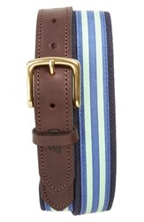 Vineyard Vines Men's Edgartown Stripe Belt Sour Apple