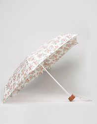 Cath Kidston Tiny Kingswood Rose Print Umbrella In Ivory Kingswood Rose Ivor Multi