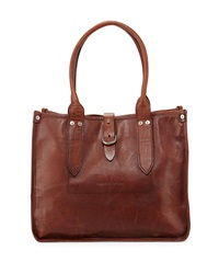 Amy Leather Shopper Tote Bag Cognac Frye