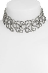 Oscar De La Renta Women's 'Chain Link' Crystal Choker Necklace