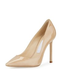 Jimmy Choo Romy Patent Leather 100Mm Pump Nude
