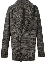 Forme D'expression Shawl Collar Marled Cardi Coat Grey