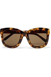 Linda Farrow Cat Eye Acetate Sunglasses Dark Brown Tortoiseshell
