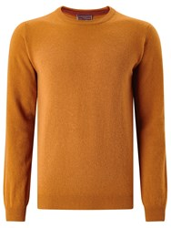 John Lewis Made In Italy Cashmere Crew Neck Jumper Gold