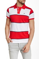 Micros Tailor Fit Short Sleeve Polo Red