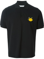 J.W.Anderson J.W. Anderson Embroidered Lemon Polo Shirt Black