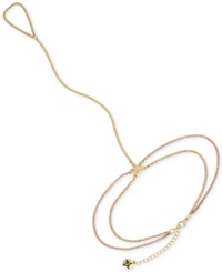 Bcbgeneration Two Tone Heart Ankle To Toe Anklet