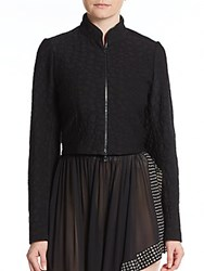 Azzedine Alaia Cape Back Jacket Black