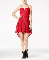 Material Girl Juniors' High Low Lace A Line Dress Only At Macy's Hibiscus