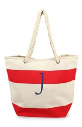 Cathy's Concepts Personalized Stripe Canvas Tote Red Red J