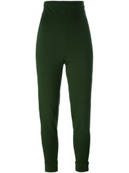 Romeo Gigli Vintage High Waisted Leggings Green