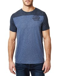 Buffalo David Bitton Short Sleeve Roundneck T Shirt Blue