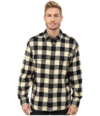 Woolrich Oxbow Bend Flannel Shirt Black Buffalo Men's Clothing