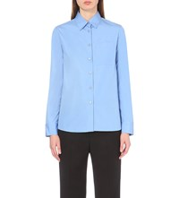 Jil Sander Button Up Cotton Shirt Light Blue