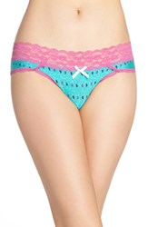 Honeydew Intimates Women's Lace Waistband Hipster Panties Spruce Trees