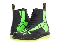 Dr. Martens Skelly 8 Eye Boot Black Softy T Glow In The Dark Print Lace Up Boots