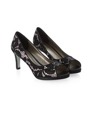 Jacques Vert Overlay Lace Shoe Multi Coloured