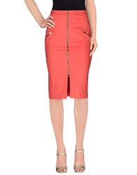 Who S Who Skirts 3 4 Length Skirts Women Coral